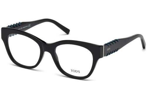 Tod's Designer Eyeglasses TO5174-001 in Black 51mm :: Rx Single Vision