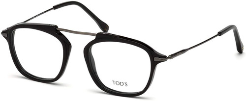 Tod's Designer Eyeglasses TO5182-001 in Black 49mm :: Rx Single Vision