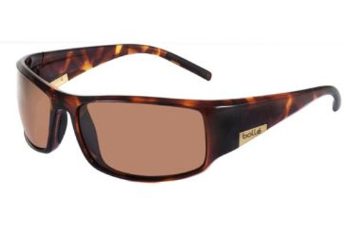 Bolle King 10999 Designer Sunglasses (Dark Tortoise, Polarized Bronze)