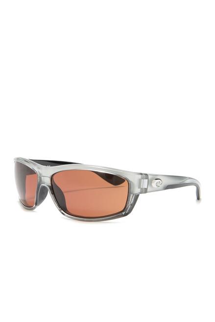 Costa Del Mar™ Polarized 580G Sunglasses: Saltbreak in Silver & Amber Lenses