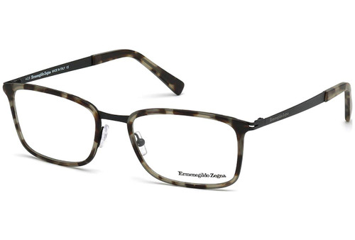 Ermenegildo Zegna Desinger Reading Glasses EZ5047-055 in Havana Black 55mm :: Rx Single Vision
