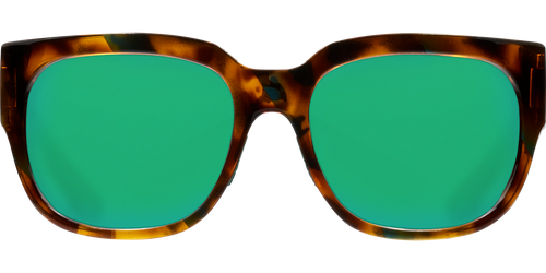 Costa Del Mar Waterwoman Polarized Sunglasses in Palm Tortoise with Green Mirror 580P Lens
