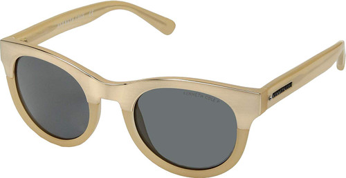 Kenneth Cole Designer Sunglasses KC7211-58D in Gold Beige with Grey Lens
