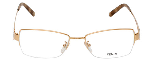 Fendi Designer Eyeglasses F612R-757 in Gold 54mm :: Custom Left & Right Lens