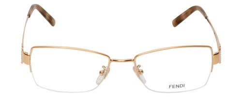 Fendi Designer Eyeglasses F612R-757 in Gold 54mm :: Rx Single Vision