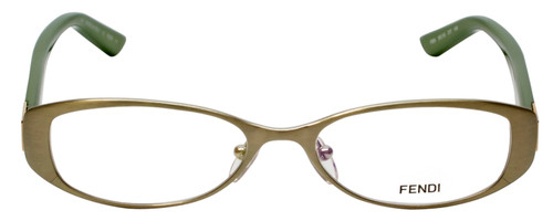 Fendi Designer Eyeglasses F899-317 in Matte Green 50mm :: Rx Single Vision