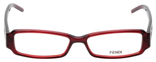 Fendi Designer Eyeglasses F664-618 in Deep Red 51mm :: Rx Single Vision