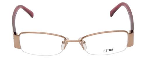 Fendi Designer Eyeglasses F1043R-663 in Gold Rose 49mm :: Rx Bi-Focal