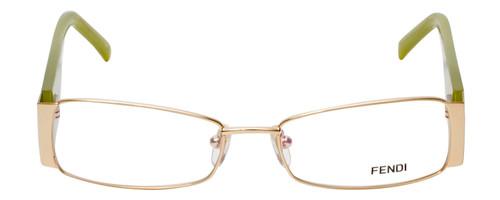 Fendi Designer Reading Glasses F923R-714 in Gold Green 52mm