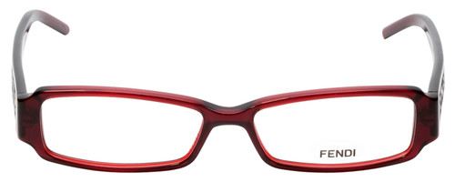 Fendi Designer Reading Glasses F664-618 in Deep Red 51mm