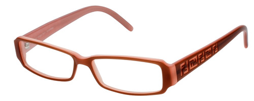 Fendi Designer Reading Glasses F664-255 in Pale Pink 53mm