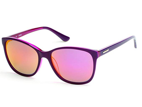 Guess Designer Sunglasses GU7426-81Z in Violet with Violet Mirror