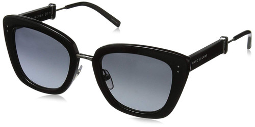 Marc Jacobs Designer Sunglasses MARC131-0807in Black with Grey Lens