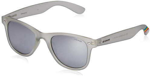 Polaroid Designer Polarized Sunglasses PLD6009-INF in Crystal with Silver Mirror Lens