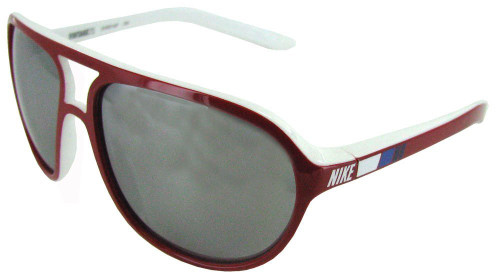 Nike Designer Sunglasses Vintage 72 EV0597 in Red & White