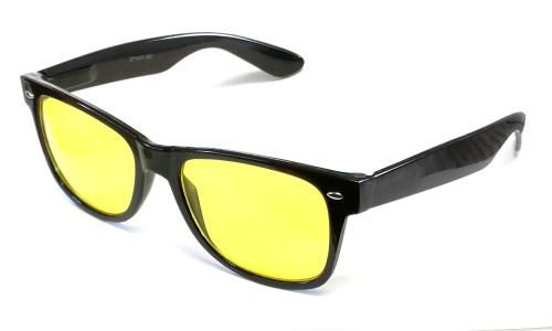Calabria 1417 Night Driving Retro in Gloss Black & Yellow Tint
