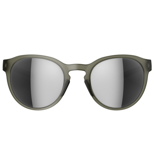 Adidas Designer Oval Sunglasses Proshift in Matte Olive & Chrome Mirror Lens