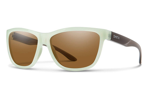 Smith Optics Eclipse Polarized Sunglasses in Ice Smoke with Brown Lens