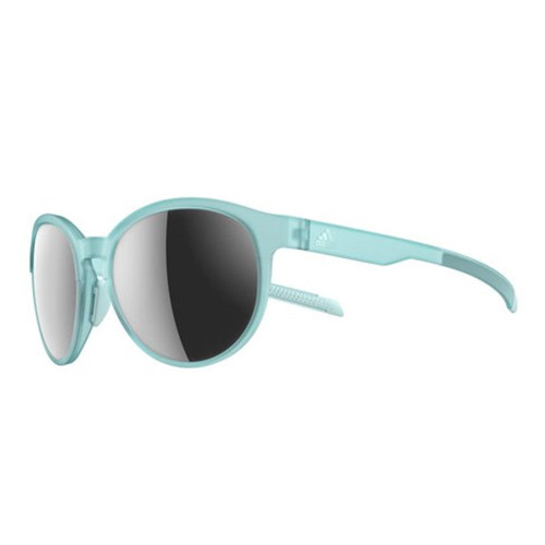 Adidas Designer Sunglasses Beyonder in Matte Turquoise with Chrome Mirror Lens