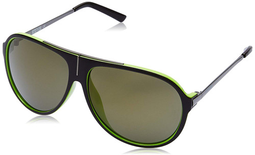 Kenneth Cole Designer Polarized Bi-Focal Sunglasses KC1239-50Q in Brown with Green Mirror Lens