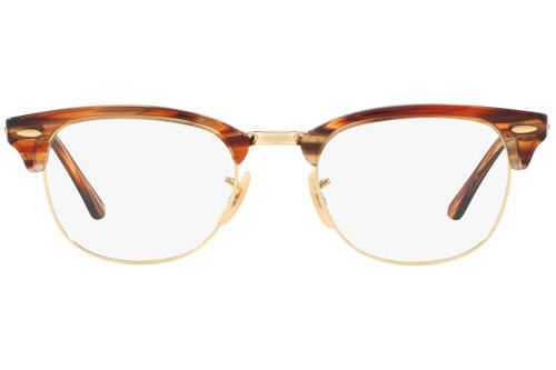 Ray Ban Designer Prescription Eyeglasses RX5154-5751 Brown/Beige Striped 51mm Rx Single Vision