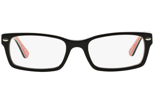 Ray Ban Designer Prescription Eyeglasses RX5206-2479-52 Black/Red 52mm Rx Single Vision