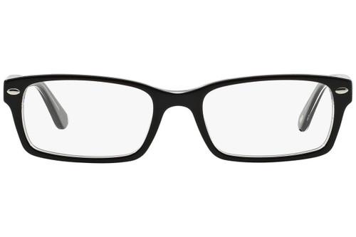 Ray Ban Designer Prescription Eyeglasses RX5206-2034-52 Black/Transparent 52mm Rx Single Vision
