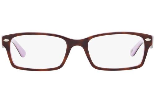 Ray Ban Designer Prescription Eyeglasses RX5206-5240-52 Havana/Opal Violet 52mm Rx Single Vision
