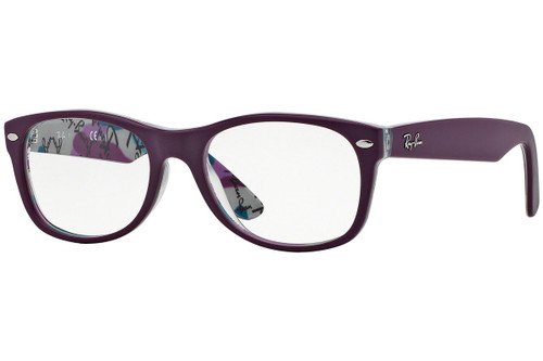 Ray Ban Designer Prescription Eyeglasses RX5184-5408 Purple 50mm Rx Single Vision