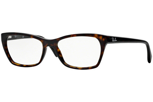 Ray Ban Designer Prescription Eyeglasses RX5298-2012 Dark Havana 53mm Rx Single Vision