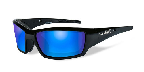 Wiley X Tide in Matte-Black & Polarized Blue Mirror Lens