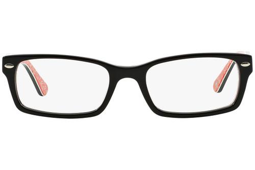 Ray Ban Designer Prescription Eyeglasses RX5206-2479-52 Black/Red 52mm Rx Bi-Focal