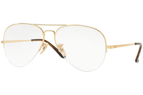 Ray Ban Designer Prescription Eyeglasses RX6589-2500 Gold 59mm Rx Single Vision