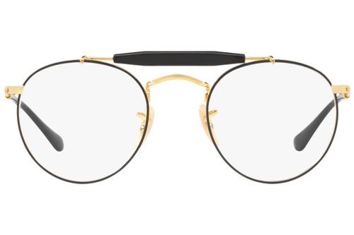 Ray Ban Designer Prescription Eyeglasses RX3747V-2946-47 Gold/Black 47mm Rx Single Vision