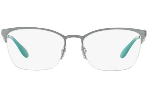 Ray Ban Designer Prescription Eyeglasses RX6345-2919-54 Silver/Light Green 54mm Rx Single Vision