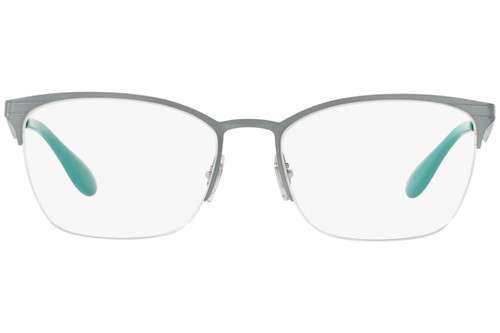 Ray Ban Prescription Eyeglasses RX6345-2919-54 Silver/Light Green 54mm Progressive Lens