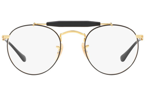 Ray Ban Designer Prescription Eyeglasses RX3747V-2946-47 Gold/Black 47mm Rx Bi-Focal
