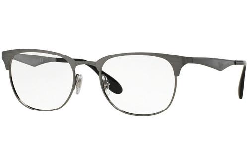 Ray Ban Designer  Reading Eye Glasses RX6346-2553-50 Brushed Gunmetal 50mm
