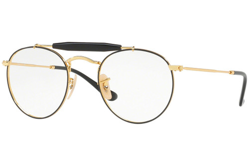 Ray Ban Designer  Reading Eye Glasses RX3747V-2946-47 Gold/Black 47mm