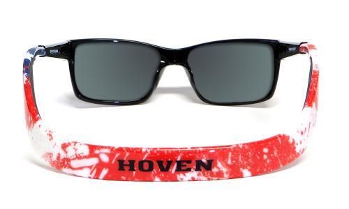 Hoven Eyewear MONIX in Black American Flag with Gloss Grey & Grey Polarized