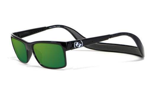 Hoven Eyewear MONIX in Black with Turtle Gloss Grey & Green Polarized