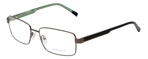 Gant Prescription Eyeglasses GA3102 Gunmetal/Black Green 58mm Progressive Lens