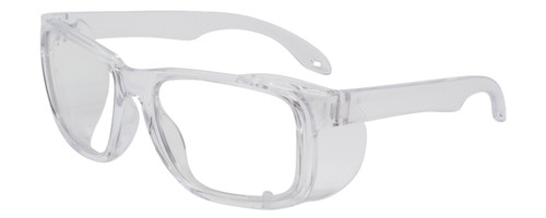 Calabria Clear Impact Resistant Safety Reading Glasses Folding Side Shield RX