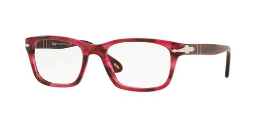 Persol Designer Eyeglasses PO3012V-1084 in Red Stripe 52mm :: Rx Bi-Focal