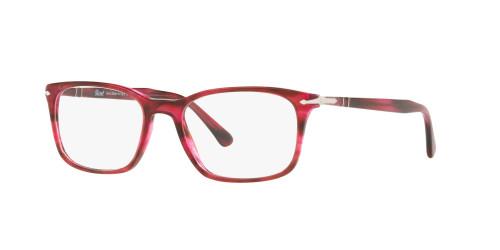 Persol Designer Eyeglasses PO3189V-1084 in Red Stripe 53mm :: Rx Single Vision