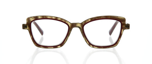 EyeBobs Designer Reading Eye Glasses Flirt 3151-01 in Red/Horn 48mm