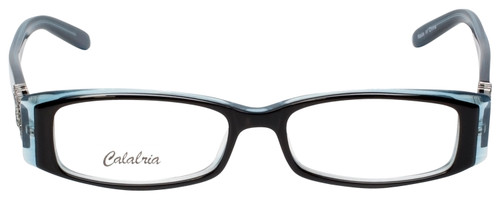 Calabria 840 Dazzles Crystals Eyeglasses in Blue w/ Blue Light Filter + A/R Lenses