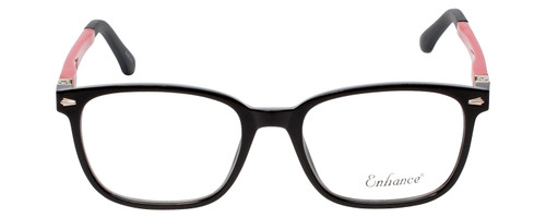 Enhance Kids Prescription Eyeglasses EN4118 48 mm Glossy Matte Black/Red Custom