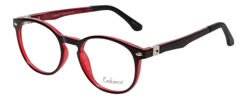 Enhance Kids Prescription Eyeglasses EN4119 46 mm Glossy Matte Black/Crystal Red