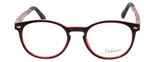 Enhance Kids Prescription Eyeglasses EN4119 46 mm Glossy Matte Black/Crystal Red